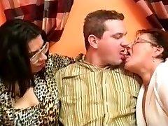 Delicious Humungous Grandma Threesome