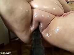 bbw mom gets pumped and anal smashed