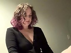 Bootylicious domme pegs trans sub slut in hotel with her strap on