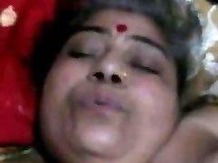 Desi chubby aunty with husband
