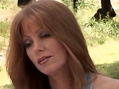 Handsome redhead MILF fucked outdoors
