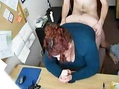 Plowing my Horny Fat BBW Assistant on Hidden Cam