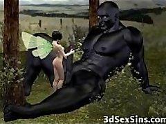 Ogres Jism On 3D Babes!