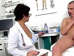 Dirty czech cougar Gabina is naughty medic in cfnm action