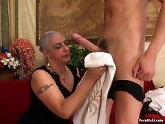 Granny Loves Yam-sized Dick