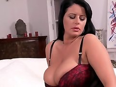 Big-chested Mature In Nylons And Stilettos Teasing HD