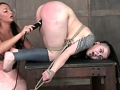 Kinky mistress punishes fat fuckbox of chubby goth slut Luna LaVey