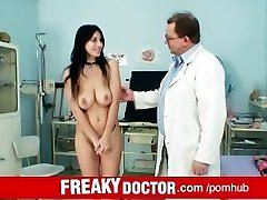 Czech meaty boobs babe Roxy Taggart medical exam by daddy doctor