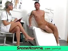CFNM penis medical exam with wonderful Czech Cougar doctor Beate