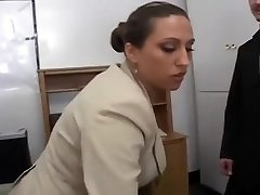 Sexy Busty Secretary Pleasures Her Boss