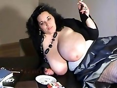 BIANCA BLOOM fat boobs smoking