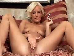 Brief Haired Smoking Milf Sucking