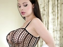 Splendid mommy Aletta Ocean in hot masturbating solo compilation