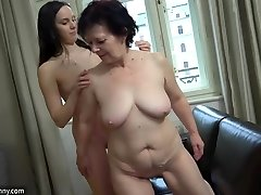 OldNanny Sexy chick masturbate hairy grannie pussy