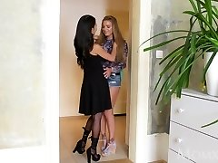 MOM Crazy thick tits Thai MILF gives young Russian teen hottie