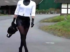 Latex Maid Luder # Scheiss Transvestitenschweine totpressen und verbrennen