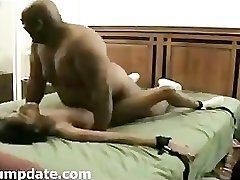 BIG fat dark-hued guy fuck thin ebony girl.
