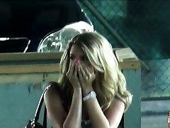 Shagging a hot ash-blonde at a public toilet