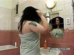 Hot Fat Girl Fucks In Restroom