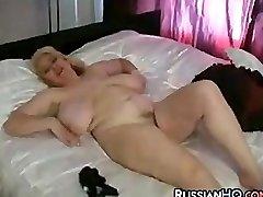 Mature Plumper Masturbating