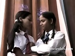 Indian School Girls Filmed By Teacher In Lezzie Sex