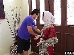 Dagfs  Arabic Lady Nadia Ali Tastes Milky
