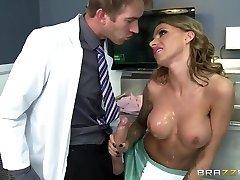 Doc Danny D tempts a nurse Juelz Ventura