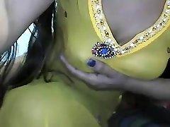 desi indian big globes demonstrating on webcam