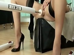 British milf using nail machine
