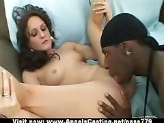 Adorable superb flexible brown-haired babe showing udders and pussy