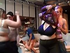 He bangs massive knockers plumper at bbw party