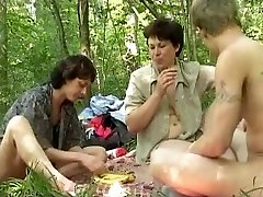 Insatiable russian picnic with huge b(.)(.)bs mature