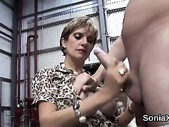 Unfaithful british mature lady sonia unveils her large hoote