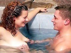 Pool water raises and hardens her puffies
