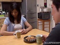 Hot mature Japanese housewife Chihiro Uehara in torrid 69