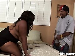Plus-size black bbw getting pussy pounded