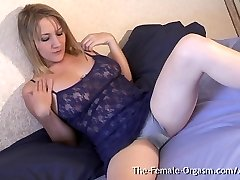 MILF with Big Cunny Lips and Sopping Wet Orgasm Contractions
