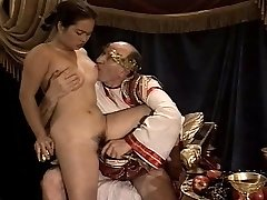 Asian Young Girl Casting made by Older & Large Grandfather