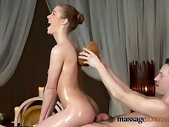 Rubdown Rooms Shaved nympho girl gets a good rigid fucking