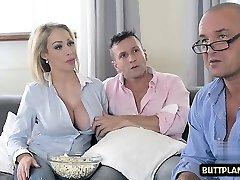Big tits pornstar funbag pound and cum in mouth