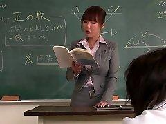Teacher gets her face creamed by her schoolgirl
