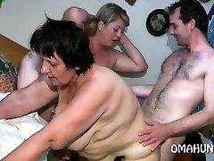 Horny mummy luvs lesbian fun in bed