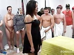 Gangbanged and Nutted on by 30 men