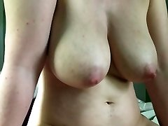 Big boobs cameltoe slip cumshot