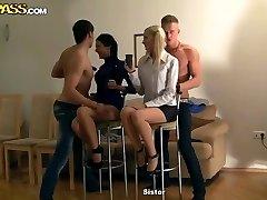 Nasty school orgy with Kamila and Marya