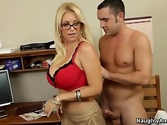 Blowjob sex lesson with my hot blonde professor