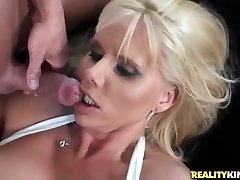 Blonde cougar likes to ride hard cocks