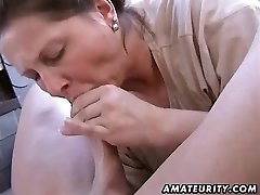 Chubby first-timer wife homemade blowjob and bang