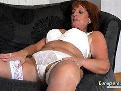 sexy mom in white underwear
