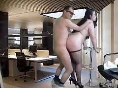 Nerdy Chubby Honey Doggy Fucked